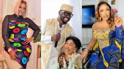 Blogger exp0ses Juliet Ibrahim for allegedly dating Tonto Dikeh's new lover as he was captured in an audio praising Juliet's honeypot