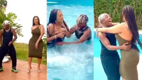 (VIDEO)Watch The Hilarious Moment Hajia4Real And Dancegodloyd Fell Into A Pool During Dance Rehearsals