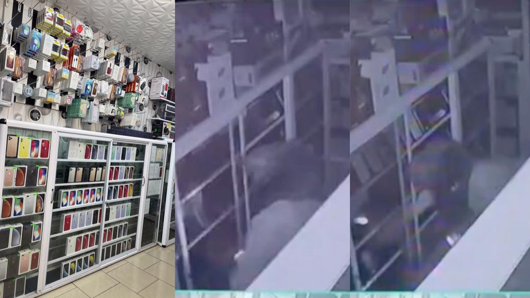 Accra: How armed robbers broke into popular mobile iPhone shop at 3 am and ransacked everything in the shop [Video]