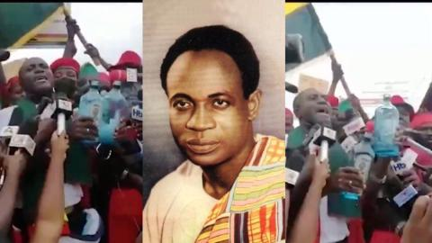 May your soul come and rescue Ghana – Captain Smart offers libation to Dr Kwame Nkrumah at #FixTheCountry demo [Video]
