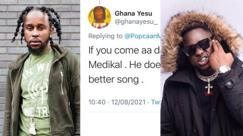"""""""Medikal does not make good songs, do not get close to him when you visit Ghana"""" – Ghanaian alerts Popcaan"""