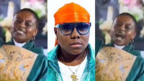 """Ghanaian female pastor leads church to sing Teni's hitsong """"Case"""" during service [Video]"""