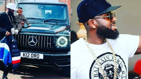 Ghanaian millionaire who has a car parked in his living room sends message to Sarkodie (Watch)