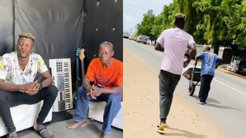 Keche Joshua Extends His Help Financially To The Old Man He Helped Push His Wheelbarrow On The Street