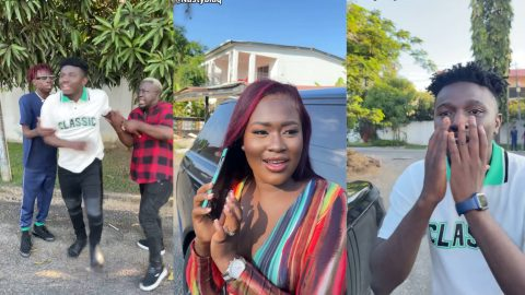 Nasty Blaq Features Fella Makafui, SDK and Made_in_Ghana In A Rib Cracking Skit (video)