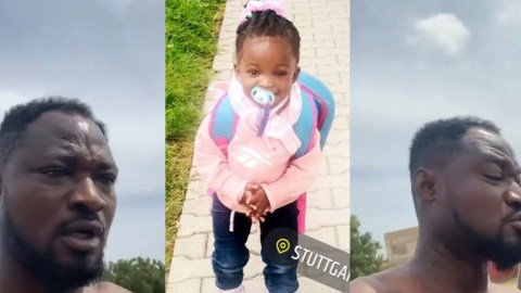 Funny Face Demands For DNA And Custody Of His Daughter In Germany, Yaa Botema (video)