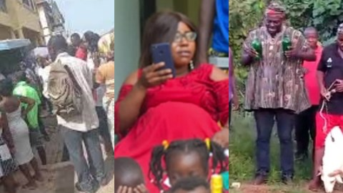 The matter chop hot: Family and friends of 'missing but found' Takoradi pregnant woman invoke curses on police, Regional Minister
