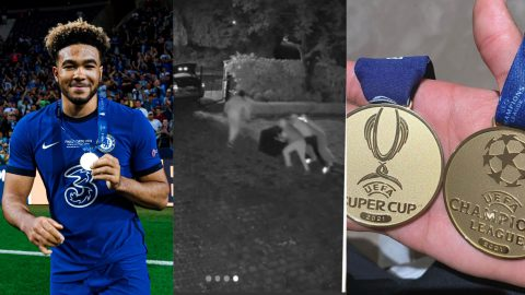 Robbers break into Chelsea star Reece James' home, steal his Champions League & Euro 2020 medals [CCTV Footage]