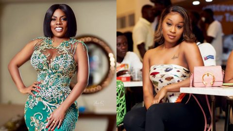 Nana Aba Anamoah sends 'shut up' message to Efia Odo over comments that owning an iPhone is not an achievement