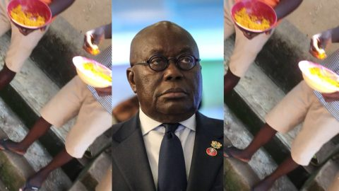 """""""We're tired of eating gari everyday?"""" – Free SHS students send message to Akufo-Addo over continuous eating of gari jollof [Video]"""