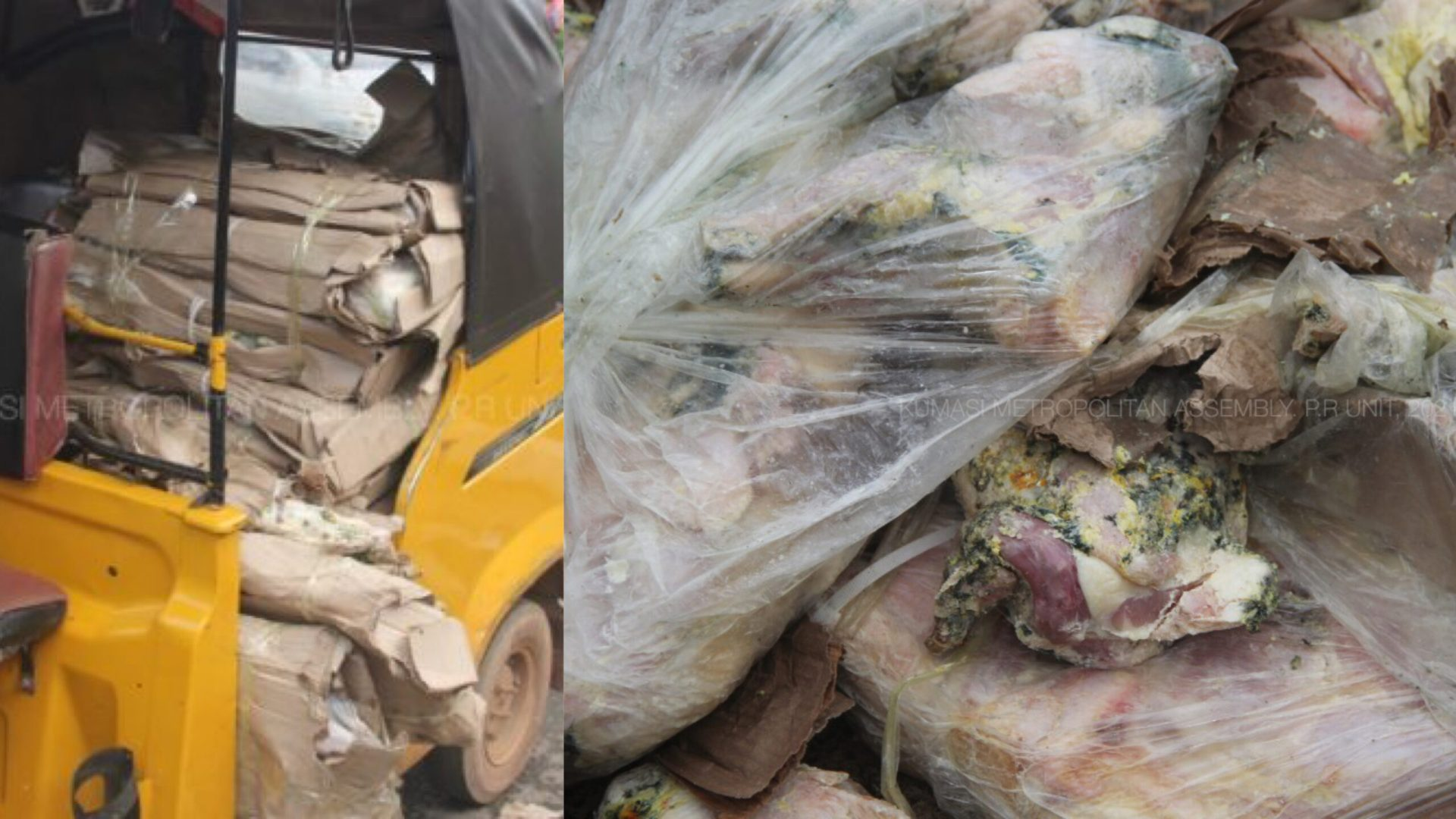 Ashanti Region: Police arrest two over sale of unwholesome rotten chicken