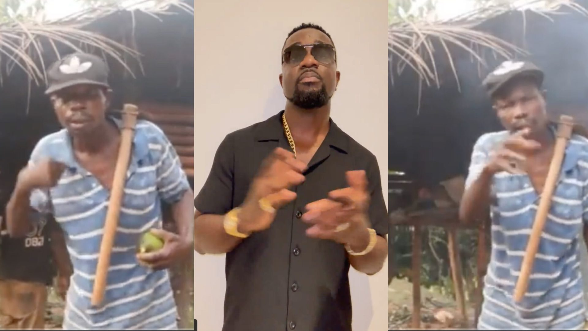 """""""Link me to this man I want to give him a gift """" - Sarkodie reacts to video of 50-year-old farmer rapping one of his old lines [Video]"""