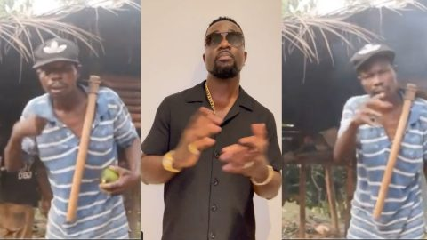 Farmer rapper: Another iconic video of 50-year-old farmer who raps Sarkodie's old lines with verve