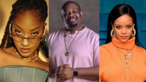 Don Jazzy reacts after Tems met and hugged his crush Rihanna
