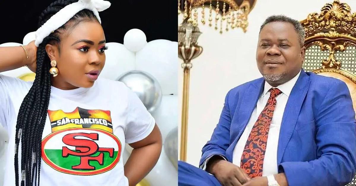 (+VIDEO) Adu Safowaa tears up as she apologises to Dr Kwaku Oteng for disgracing him