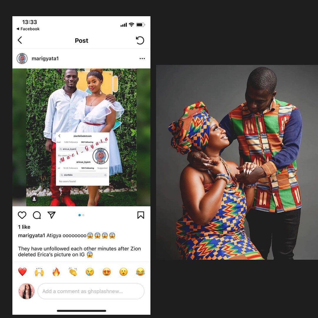 Fire on the mountain as Zionfelix's Italian baby mama unfollows after Blogger deleted her pictures from his page