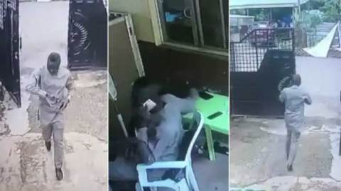 Holy Theft: CCTV captures Pastor's son stealing phone inside church in a rambo style (+VIDEO)