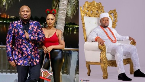 Tonto Dikeh Ex-husband, Olakunle Churchill, And Rosy Maurer Unveil Their Baby's Face For The First Time [Photos]
