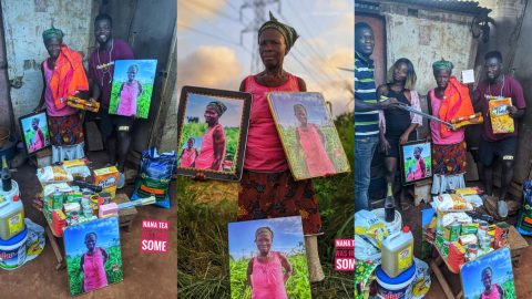 Nana Tea And Friends Join Hands To Help 72 Year Old Farmer (+Photos)