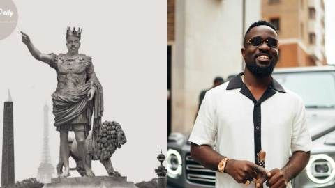 (+PHOTO) Massive reaction as statue of Sarkodie pops up on social media for the first time
