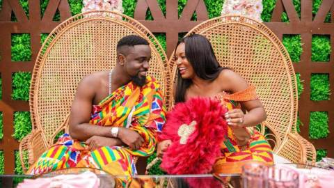 (+VIDEO) Sarkodie's wife Tracy speaks about how she was stressed and had intimate moments during their traditional wedding