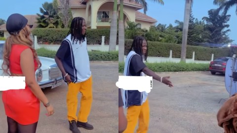 Interesting Behind The Scenes Of Hajia4Real And Stonebwoy Video Shoot