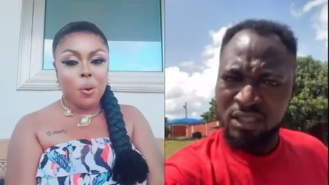 Sharp-mouthed Afia Schwar calls Funny Face to order, threatens to launch attack on him for disrespecting Fadda Dickson [Video]