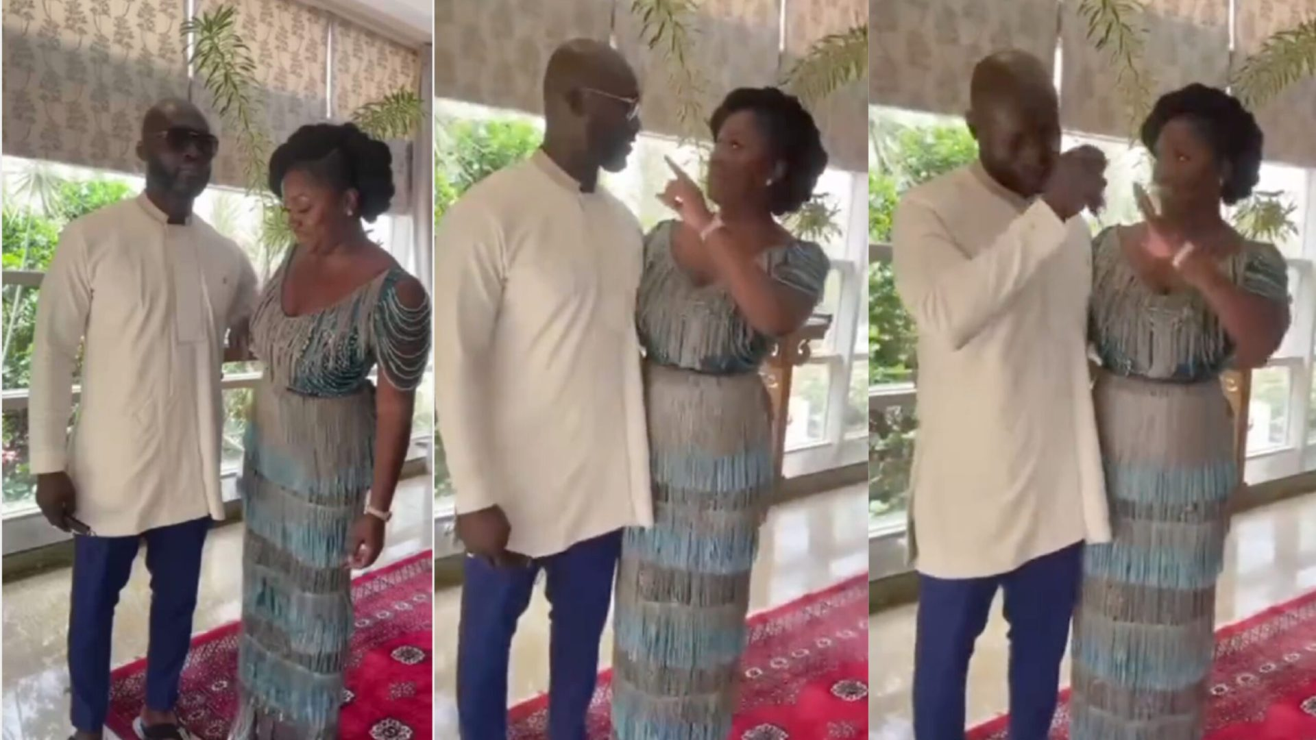 """""""She's gonna control the man"""" – Reaction to video of Edwina Akufo-Addo ordering husband to take off glasses during marriage ceremony"""