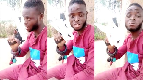 Adeiso: Suspected robber arrested after seen brandishing gun and issuing threats in viral video