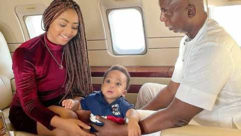 """Regina Daniels Shares Video Of Son Calling His Billionaire Father, Ned Nwoko 'Baby', Quizzes """"Who Calls Their Father Baby"""""""