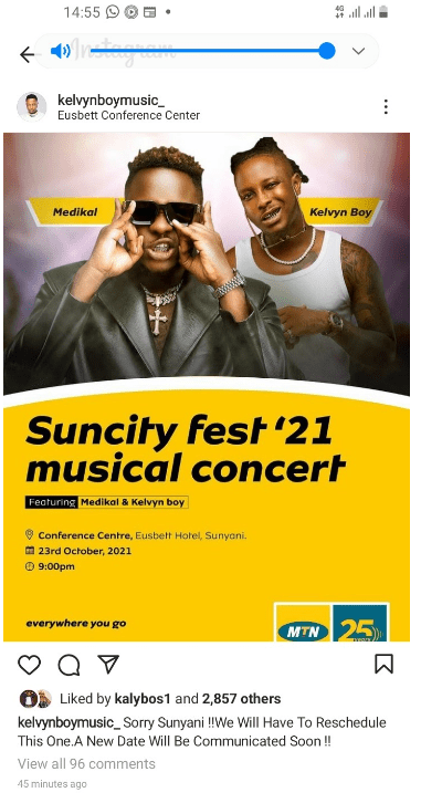 Sad news for Medikal as his predicament forces MTN to postpone Suncity Fest'21, replaces him with Kuame Eugene