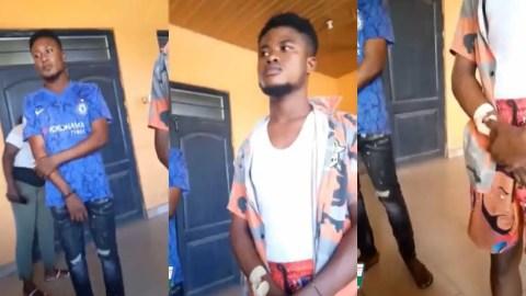 (+VIDEO) Kasoa: Jealous g∂γ lover stabs his partner for having affair with female lover