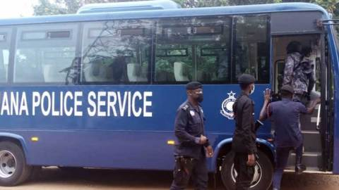(+PHOTOS) Ghana Police Service Introduce Shuttle Services for Police Officers