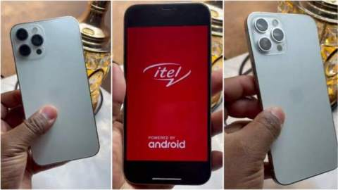Lady buys iPhone worth over ₵4,000 only to discover it's Itel after reaching home (Watch)