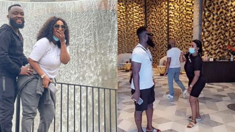 Nana Ama McBrown recovers from surgery; see as her husband plays with her waist in new photos