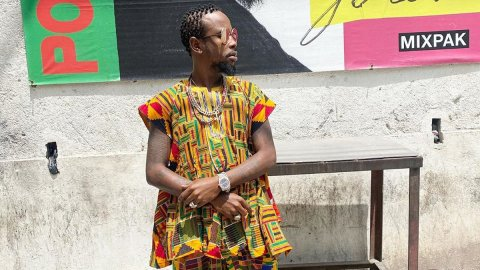 Ghana traffic brazzy- Popcaan sweats over the situation in Accra