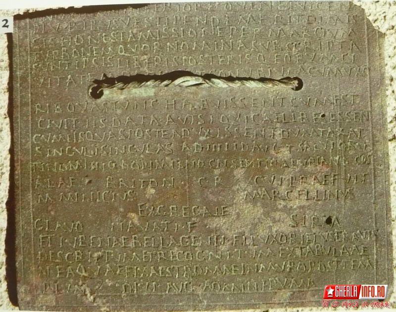 diploma militara gherla romani alla ii pannoniorum