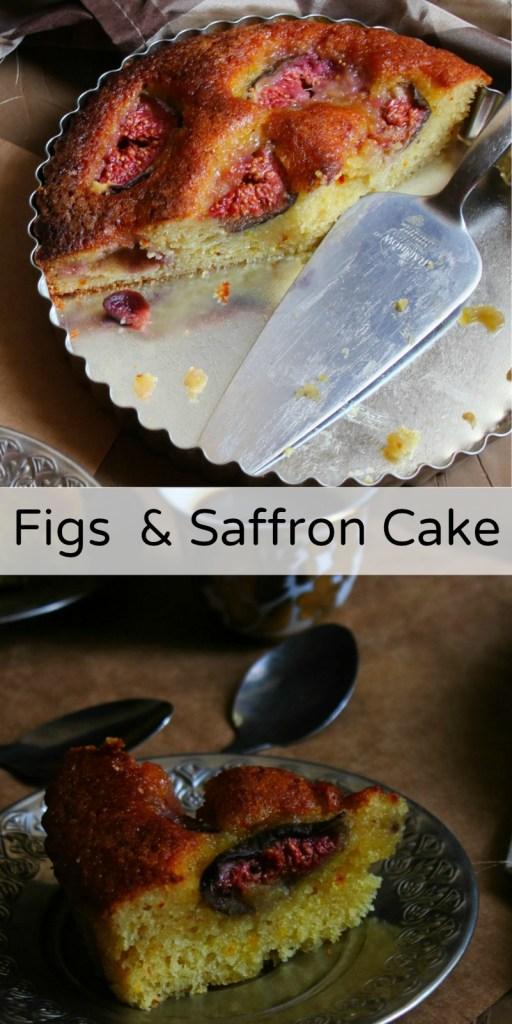 Figs & Saffron Cake