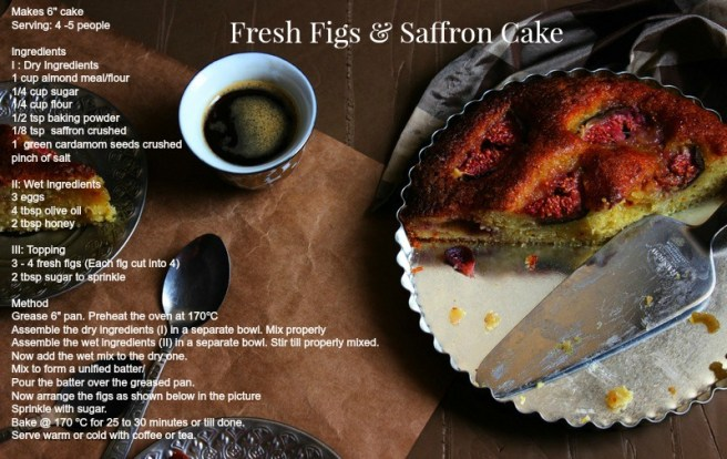 Fresh Figs & saffron Cake