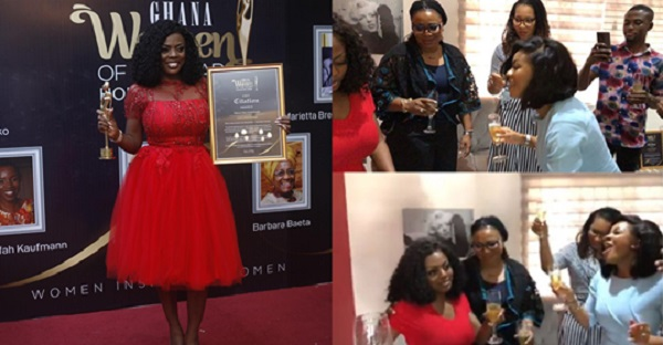 Nana Aba Anamoah Parties With Charlotte Osei, Others After Been Honoured Women Of The Year (Video)