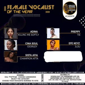 SCREENSHOT: Sista Afia Covers The Face Of A Female Artiste She's Beefing On An Awards Nomination Flyer