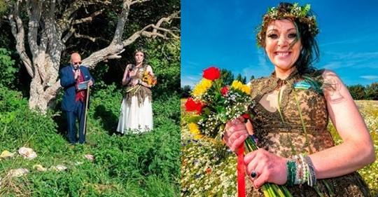 British Woman 'WEDS' A Tree In Front Of Family & Now Plans To Change Her Surname (PHOTOS)