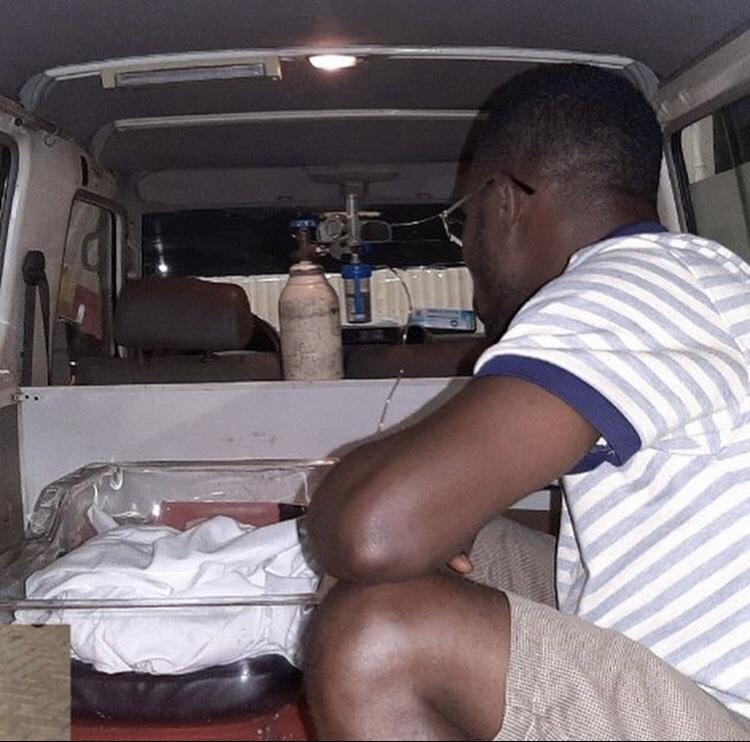 Ato in the ambulance