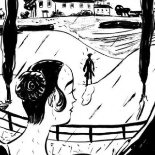 Una delle tavole della graphic novel di Manuela Santoni su Jane Austen.