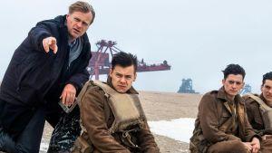 Christopher Nolan sul set di Dunkirk