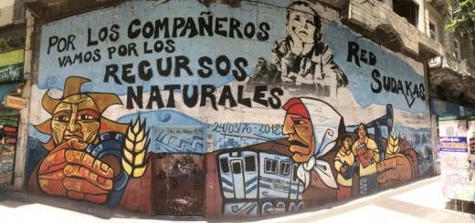 Murales nel centro di Buenos Aires