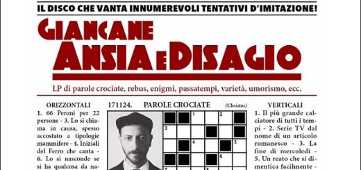 """Ansia e Disagio"", nuovo album di Giancane"