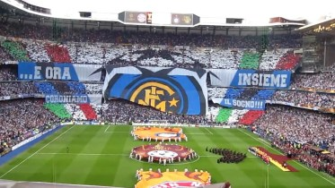 Coreografia Inter al Bernabéu