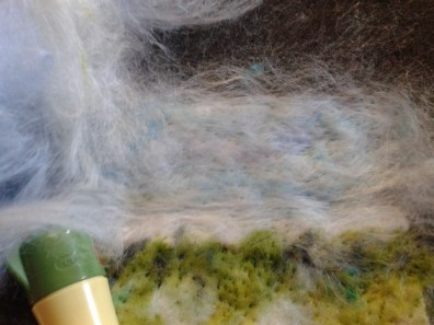 Laying out sky with silk fibre overlay