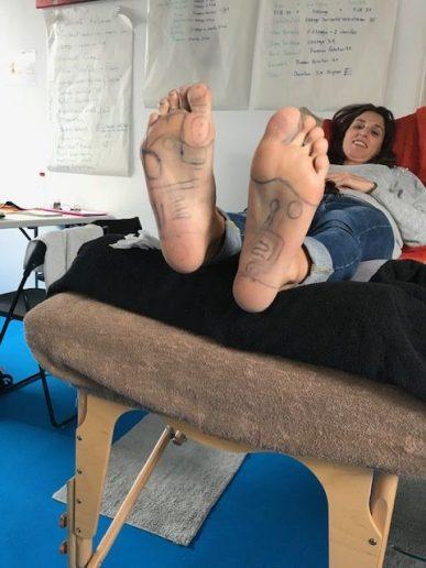 carte deux pieds réflexologie